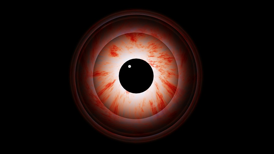 Eye, Pupil, Eye Ball, Eye Rim, Blood, Creepy, Weird, 3d