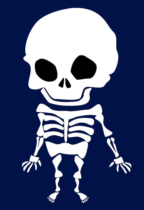 Free photo Weird Skeleton Scary Halloween Skull And Crossbones ...