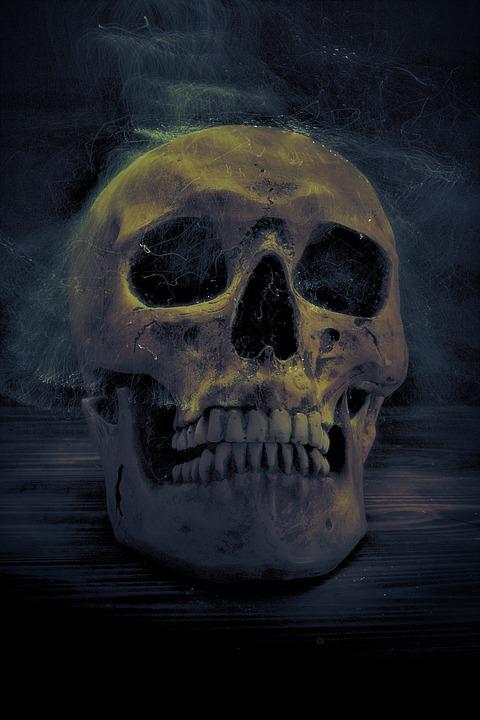 Skull, Spirit, Mystical, Weird, Surreal, Horror, Creepy