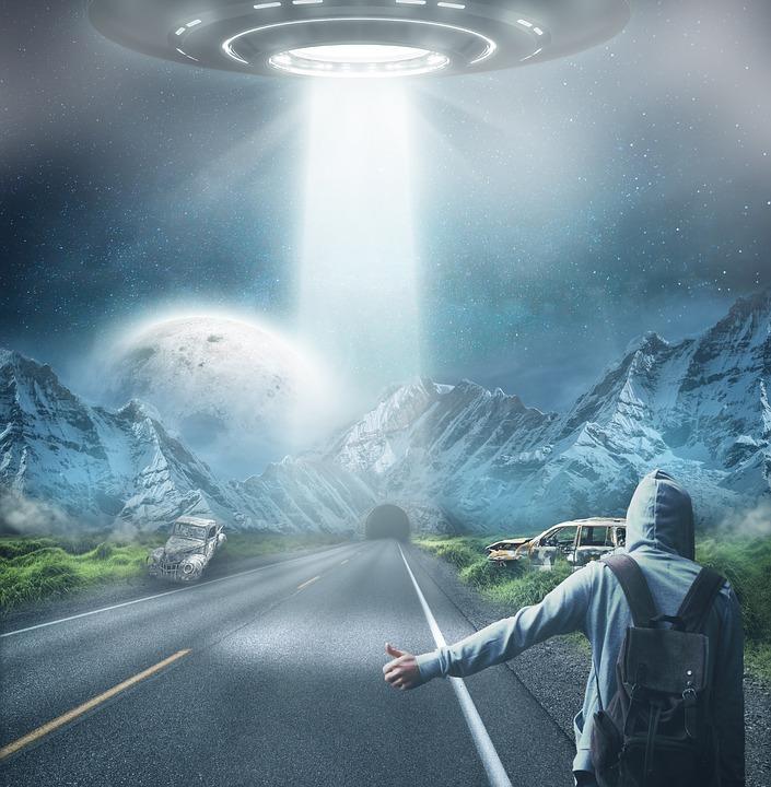 Ufo, Alien, Alie, Futuristic, Science, Fiction, Weird