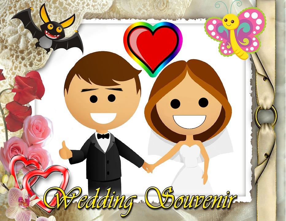 Wedding, Collage, Weird, Love, Card, Bride, Groom