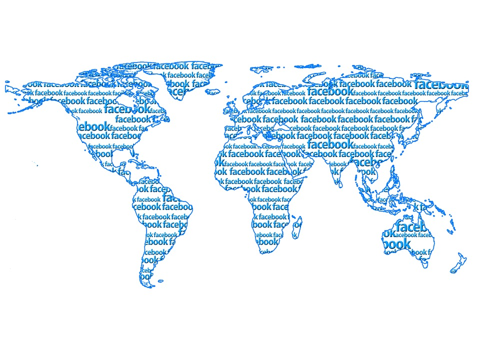 World, Weltkartel, Continents, Facebook, Www, Worldwide