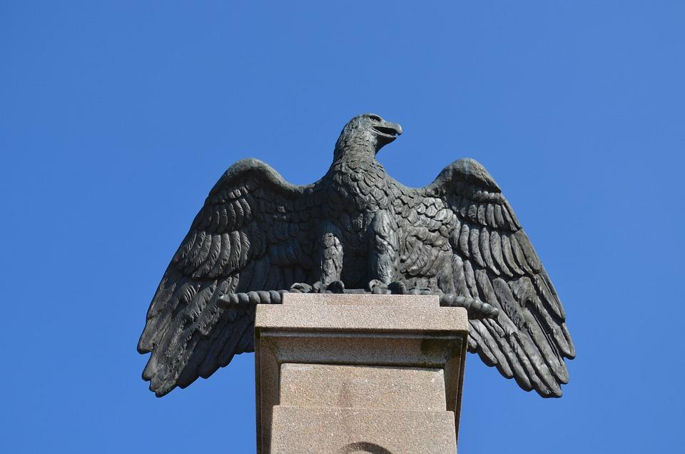Eagle, Statue, Wendelsberg, Mölnlycke, Wings, Bird
