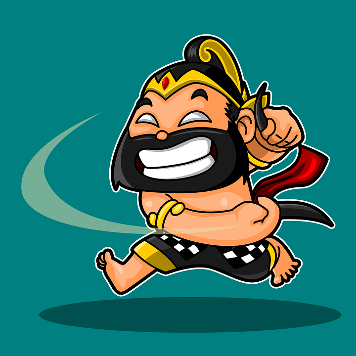 Bima, Werkudara, Wayang, Cute, Cartoon, Mascot