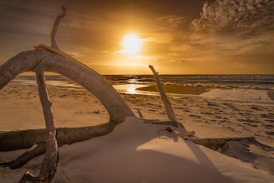 Baltic Sea, West Beach, Sunset, Sea, Nature