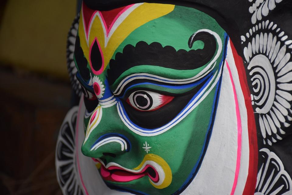 Chau Mask, Purulia, West Bengal, India, Chau Dance