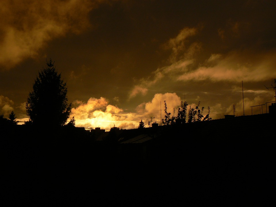 West, Sun, Solitude, Sky, Clouds, Cloud, Tree