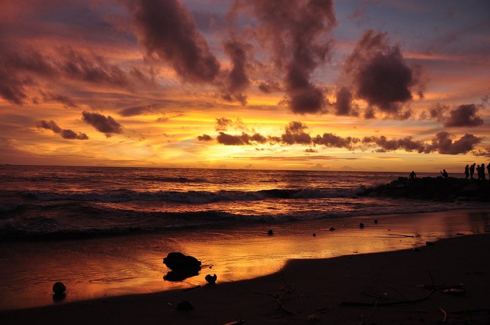 free photo west sunset tropical beach landscape red sky max pixel