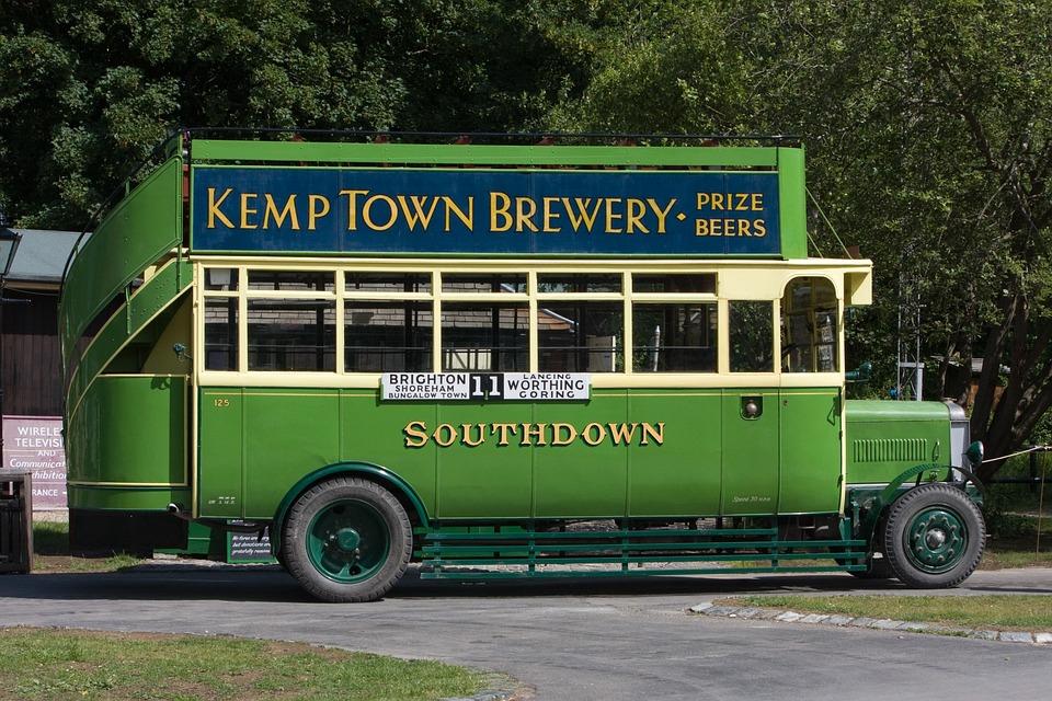 Vintage Bus, Bus, Old, Vintage, West Sussex, Sussex