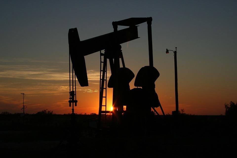 Oil, Monahans, Texas, Sunset, West Texas, Sillhouette