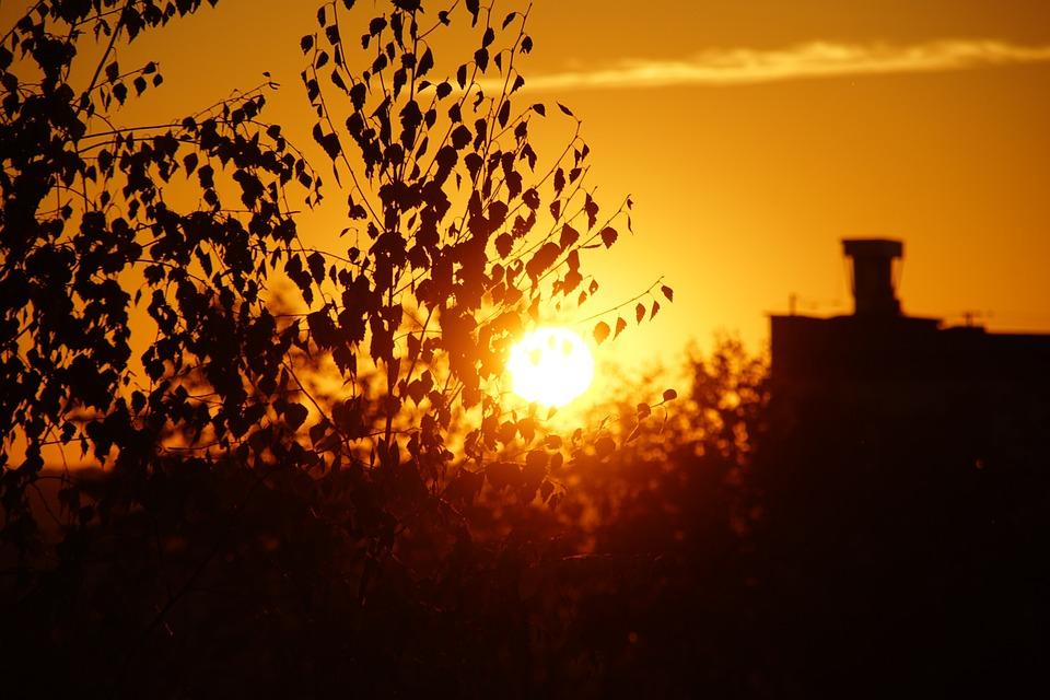 West, The Sun, Sky, Twilight, Clouds, Landscape