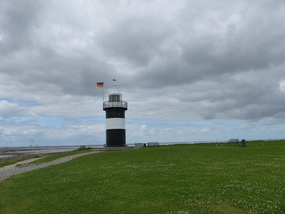 Lighthouse, North Sea, Wadden Sea, Westerhever