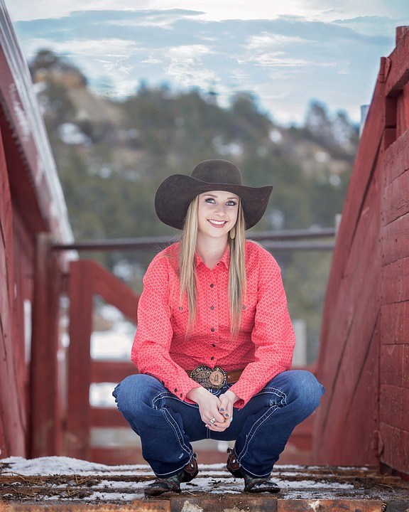 Cowgirl, Hat, Country, Western, Ranch, Girl, Hats