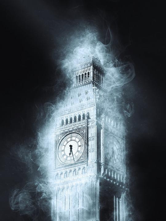 Big Ben, Westminster Palace, London, England, Uk