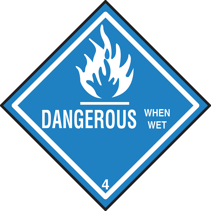 Safety, Wet, Warning, Hazard, Dangerous, When