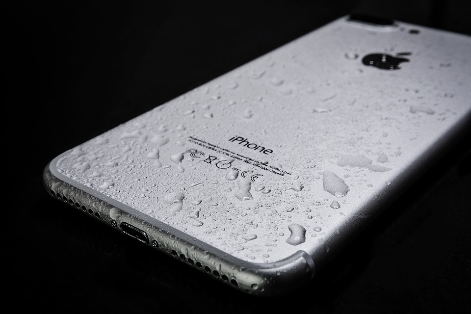 Wet Smartphone, Iphone, 7, Plus, Apple, Water, Drops