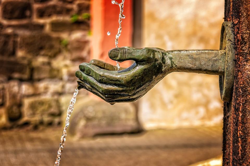 Fountain, Water, Flow, Wet, Water Feature, Splash