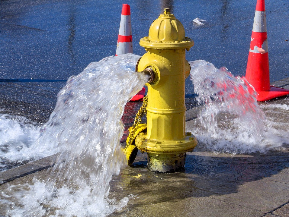 Water, Safety, Spray, Hydrant, Wet, Danger, Blue Safety