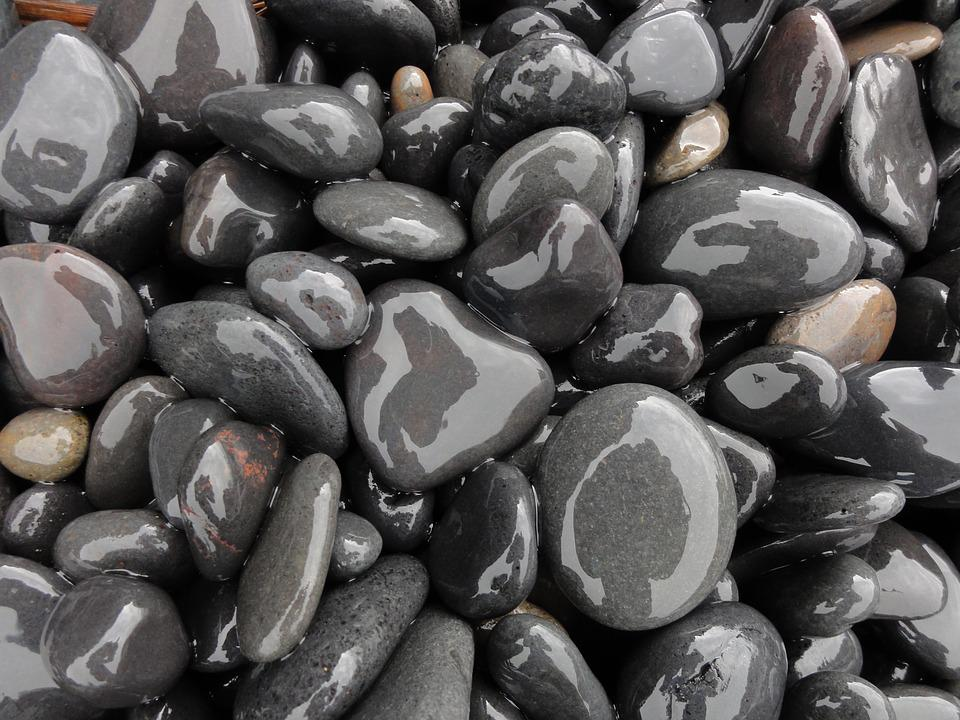 Boulders, Background, Structure, Black, Stone, Wet