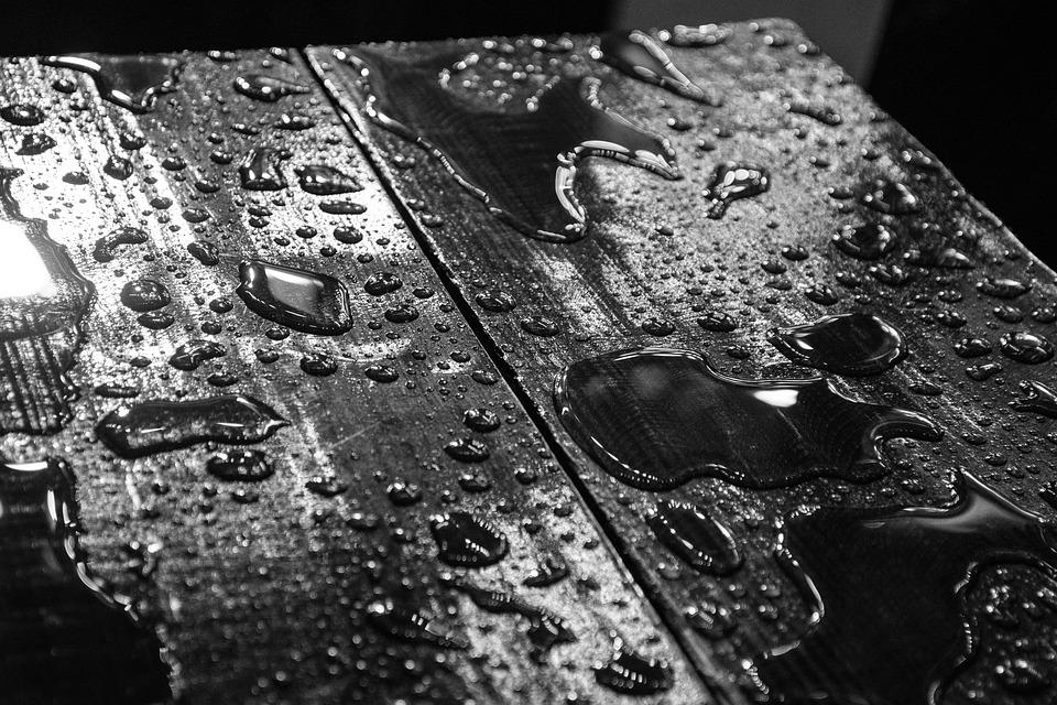 Wet, Wood, Table, Reflection, Rain, Weather, Texture