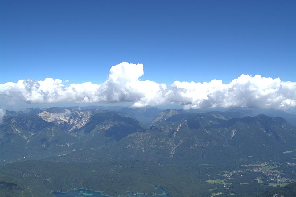 Zugspitze, Wetterstein Mountains, Far Right