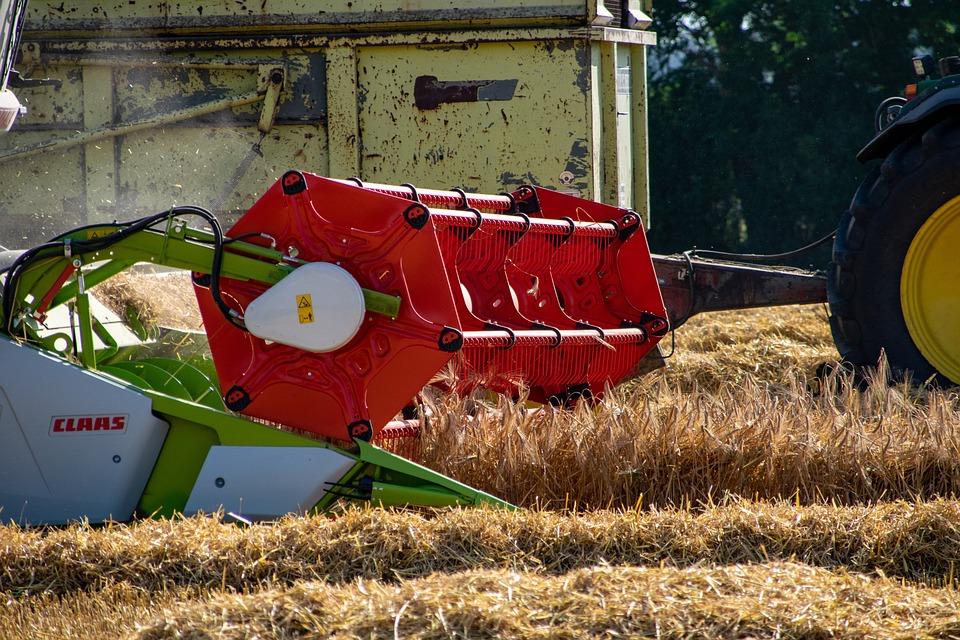 Harvest, Combine Harvester, Wheat Field, Straw, Wheat