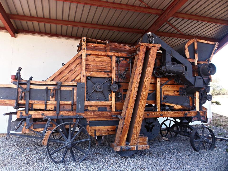 Thresher, Wheat, Threshing Machine, Old, History