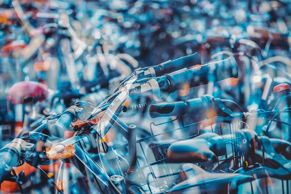 Bike, Wheel, Double Exposure, Handlebars, Chrome, Brake