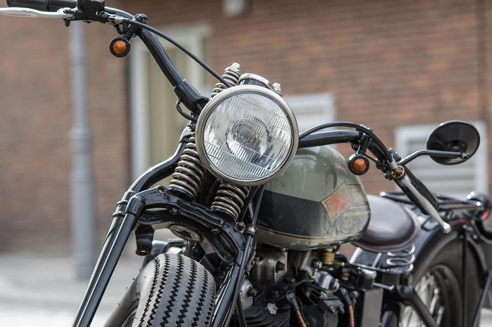 Motorcycle, Harley Davidson, Chrome, Spotlight, Wheel