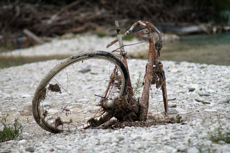 Bike, Scrap, Garbage, Rust, Scrap Metal, Broken, Wheel