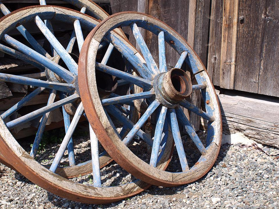 Wooden Wheel, Wagon Wheel, Wheel, Wood, Spokes