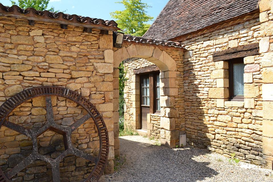 Stone Portal, Wheel, Stone Wall, Wheel Metal, Bournat