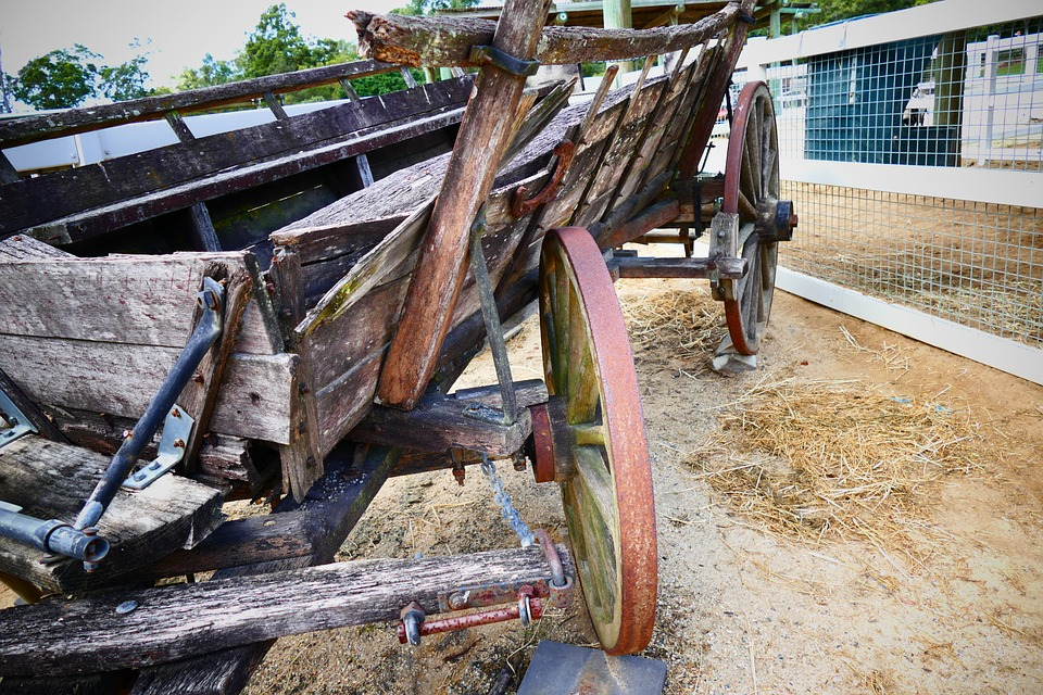 Cart, Old, Vintage, Wooden, Wheel, Wagon, Carriage