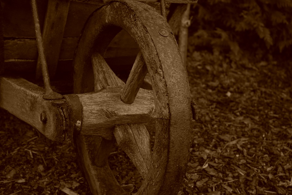 Old, Peat, Wheelbarrow, Torfkarre