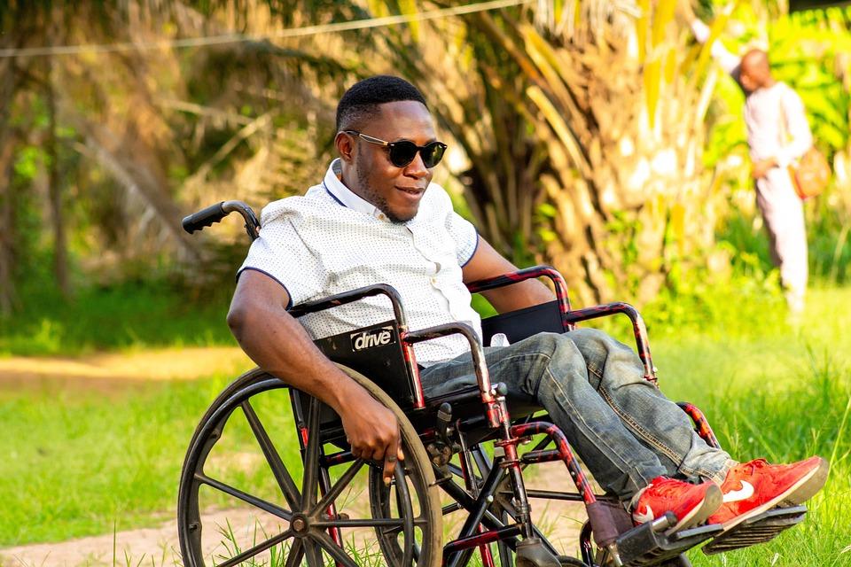 Man On A Wheelchair, Wheelchair, Push, Disability