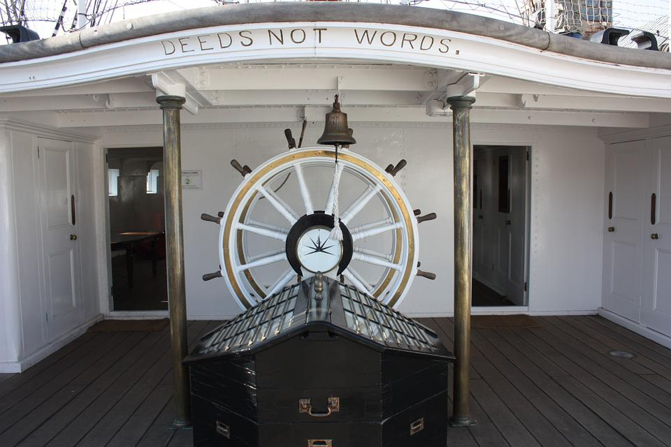 Wheelhouse, Steering, Wheel, Ship, Sailing, Sea, Ocean