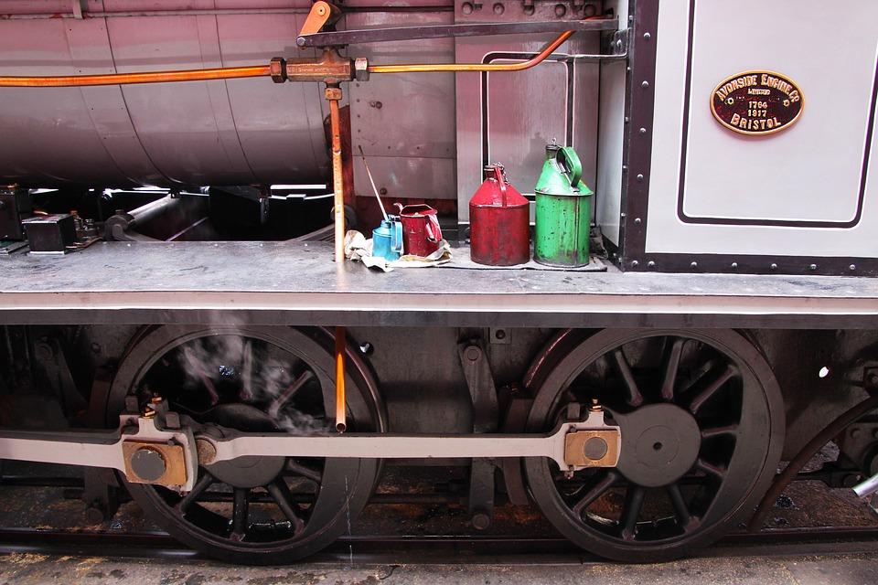 Train, Wheels, Railway, Locomotive, Railroad, Rail