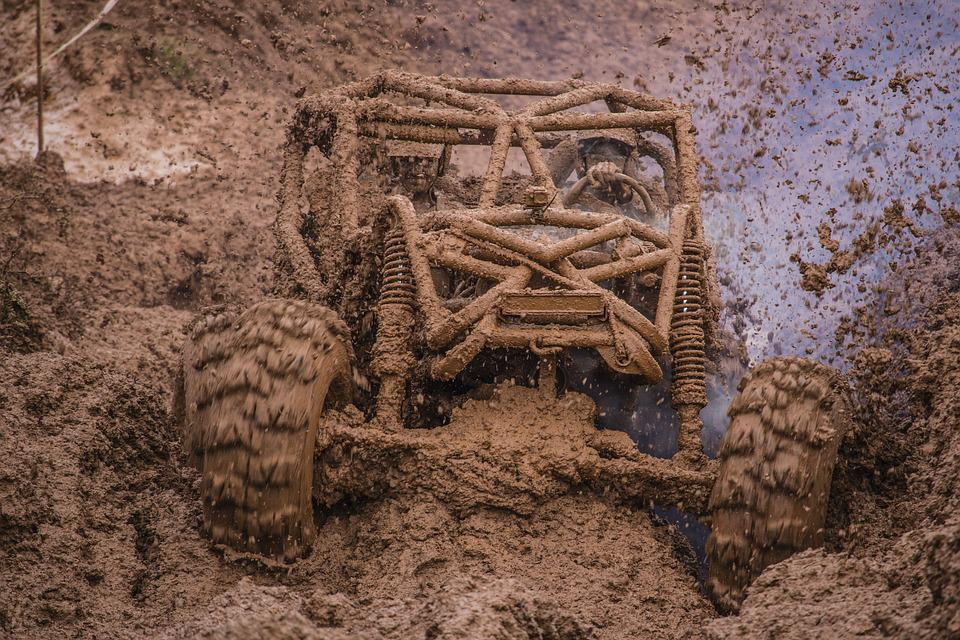 Off Road, Jeep, Trail, 4x4, Mud, Dirt, Whimsical, Power