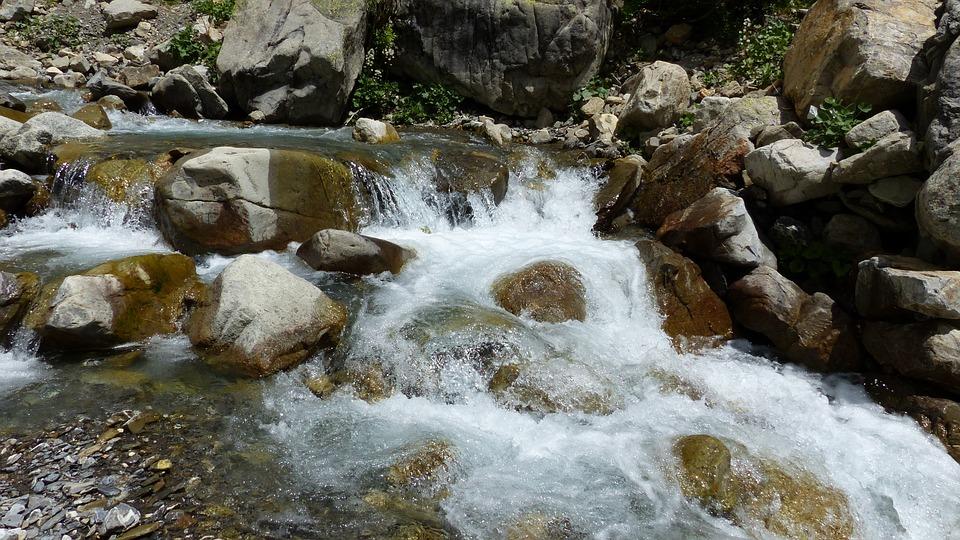 Water, Water Courses, Torrent, Rock, Whirlpool