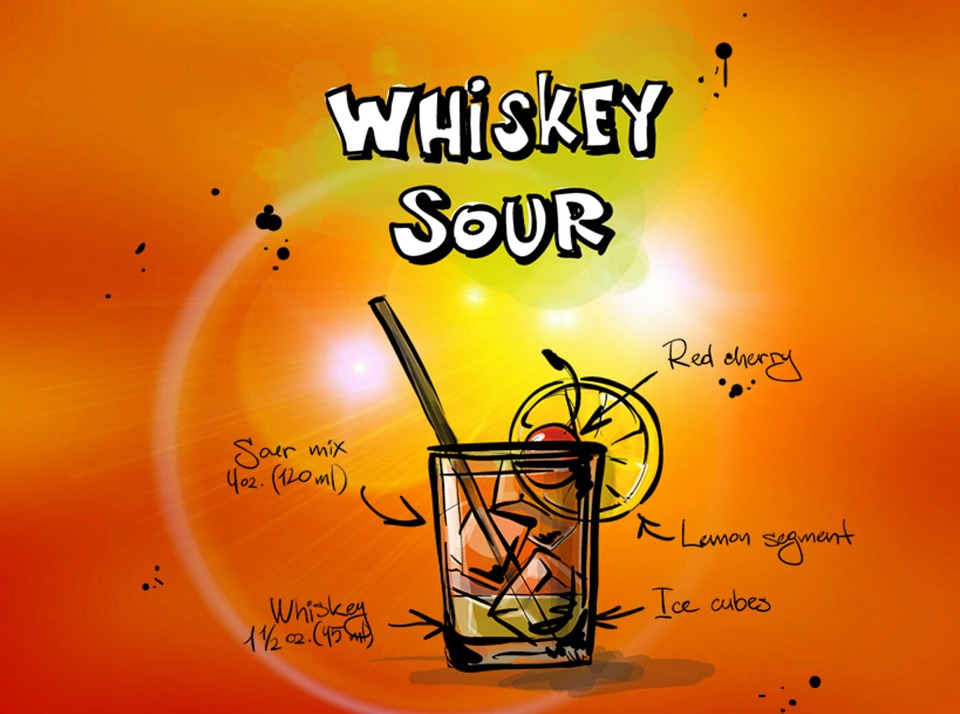 Whiskey Sour Cocktail, Drink, Alcohol, Recipe, Party