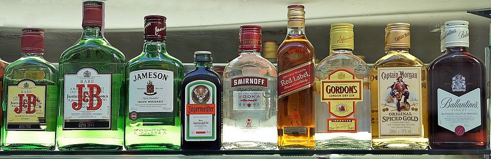 Premium, Drinks, Selection, Bar, Set, Whiskey, Whisky