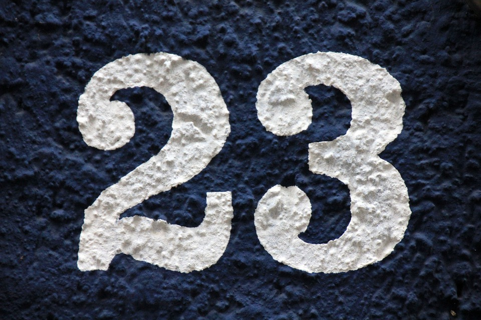 Number, Pay, House Number, Blue, White, Blue White, 23