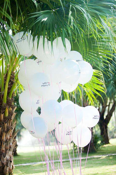 Balloon, Wedding, White And Green