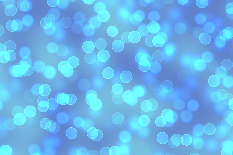 Blur, Bokeh, Out Of Focus, Blue, White, Background