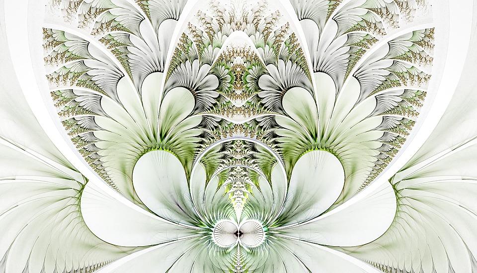Fractal, Delicate, White Background, Fractal Art