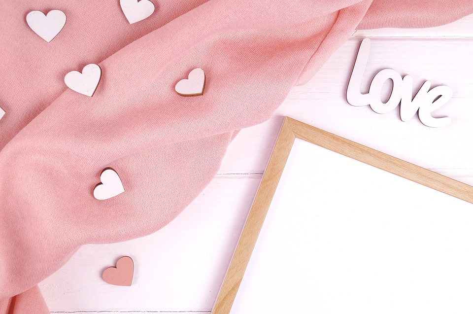 Frame, Hearts, Love, White Background, Pink Color