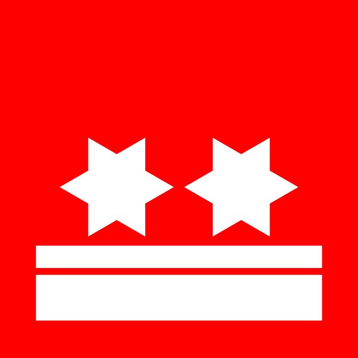 Star, Flag, Red, White, Bands, Red Stars
