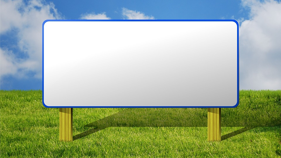 Free Photo White Billboard Empty Background Isolated Sign