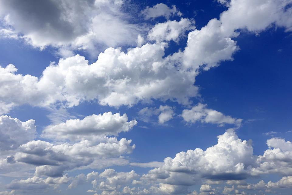 Clouds, Sky, Blue, White, Nature, Still, High, Weather