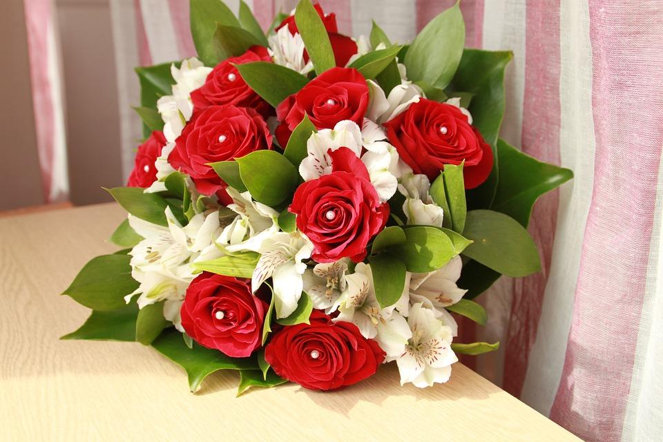 Free photo white bride wedding red pink flower bouquet max pixel flower bouquet bride wedding pink red white mightylinksfo